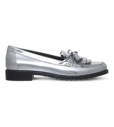 TODS Leather moccasins (Silver
