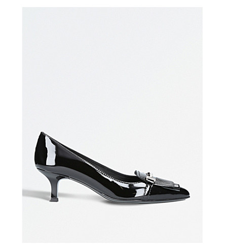 TODS Patent leather court shoes (Black