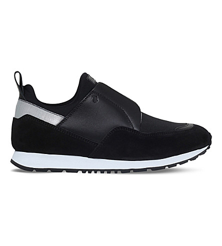 TODS Sportivo leather trainers (Blk/other