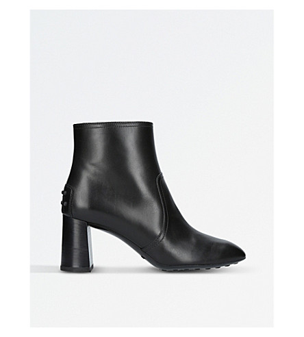 TODS Gomma leather ankle boots (Black