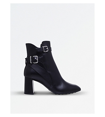 TODS Gomma T70 leather ankle boots (Black