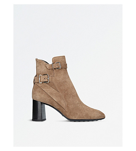 TODS Gomma T70 suede ankle boots (Taupe
