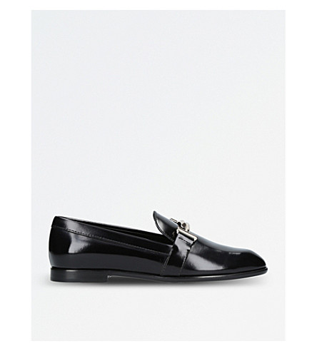 TODS Slip-on leather loafers (Black