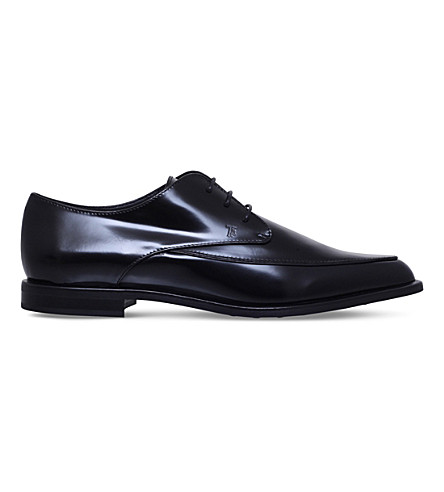 TODS Gomma leather shoes (Black