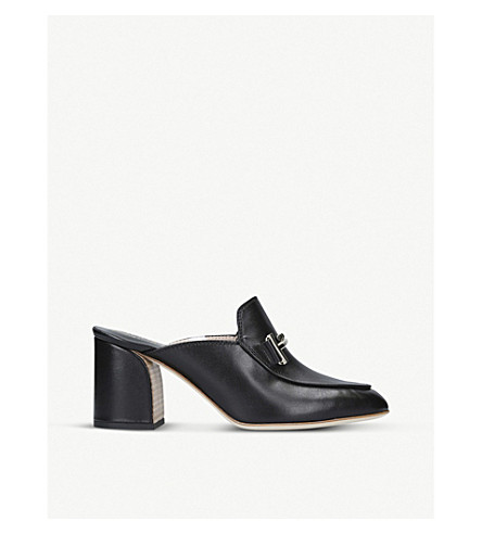 TODS Doppia Cuoio leather mules (Black
