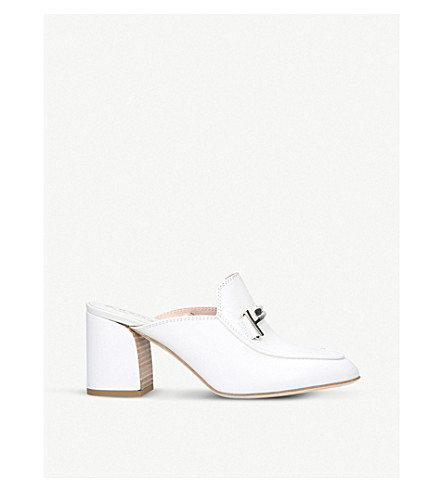 TODS Doppia Cuoio leather mules (White