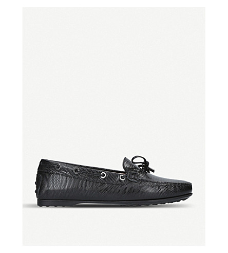 TODS Gommino leather driving shoes (Black