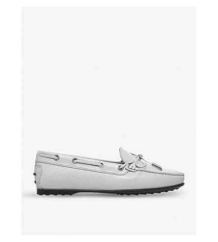 TODS Lacce Occhielli leather loafers (Grey