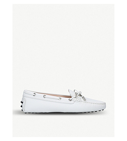 TODS Heaven nubuck moccasins (White