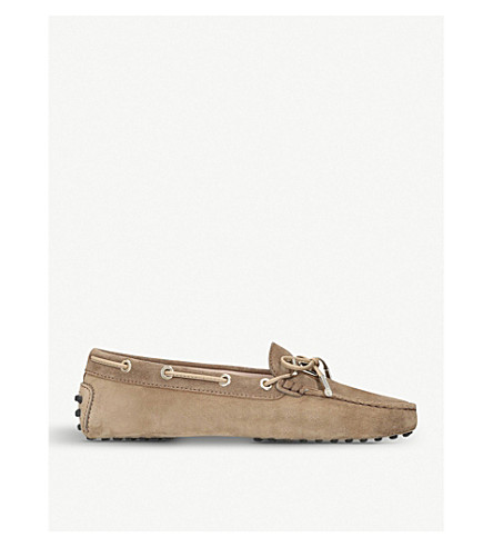 TODS Heaven suede moccasins (Tan