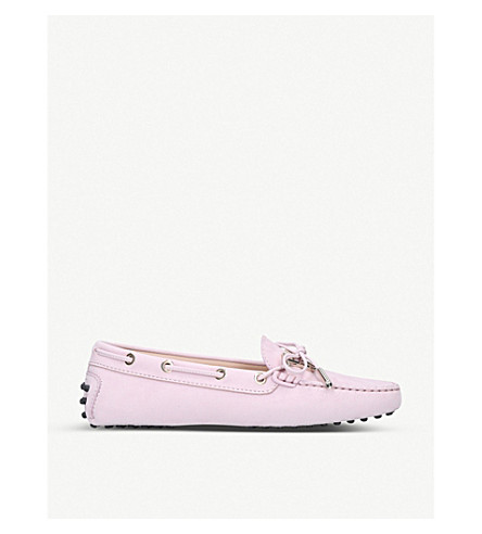 TODS Heaven nubuck moccasins (Lilac