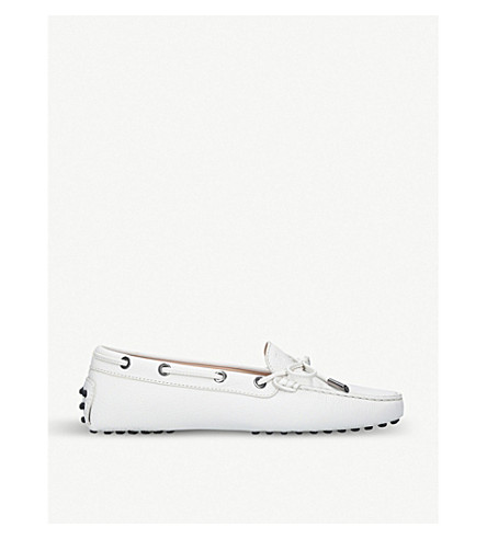 TODS Heaven leather moccasins (White