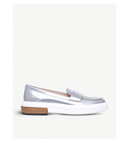 TODS Gomma leather loafers (Silver