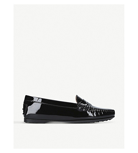 TODS Gomma patent-leather moccasins (Black