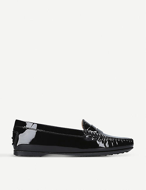 TODS Gomma patent-leather moccasins