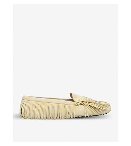TODS Gommini multi-fringe suede moccasins (Other