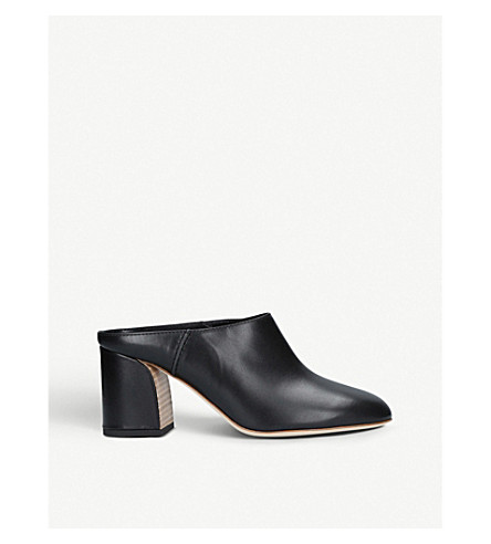 TODS Sabot 70 leather mules (Black