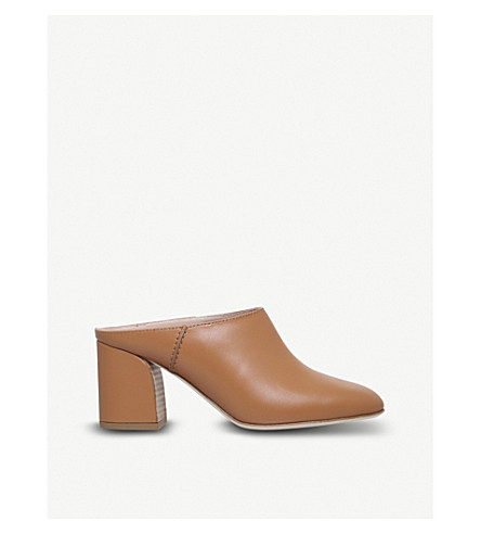 TODS Leather Sabot Mules 70 (Nude