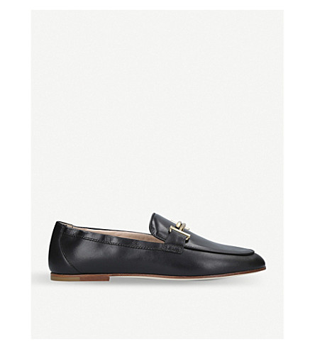 TODS T leather loafers (Black