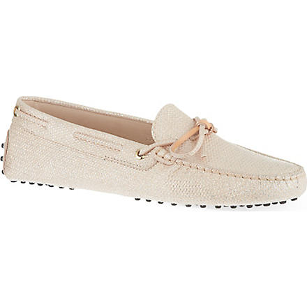 TODS Heaven lace loafers (Nude