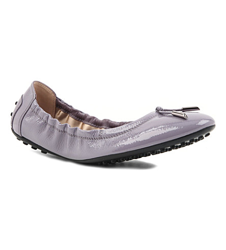 TODS Patent leather ballerinas (Lilac