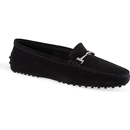 TODS Gommino Heaven horsebit loafers in suede (Black