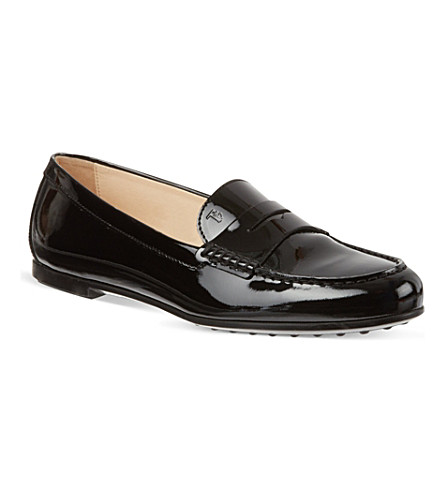 TODS Patent Leather Loafers (Black