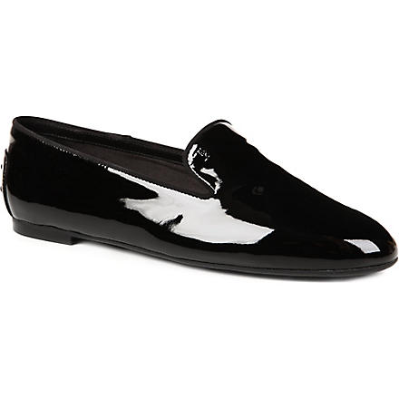 TODS Patent leather slippers (Black
