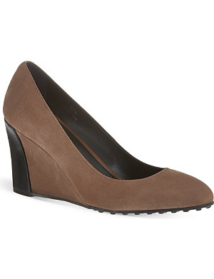 TODS Wedge pumps in suede
