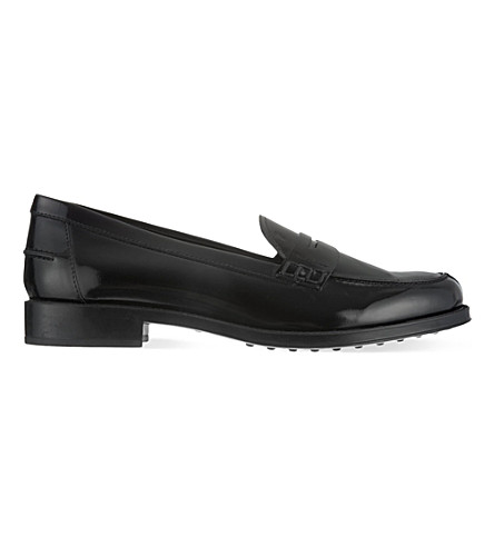 TODS Mocattino Gomma leather moccasins (Black