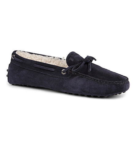 TODS Gommino Heaven Driving Shoes in Suede (Navy