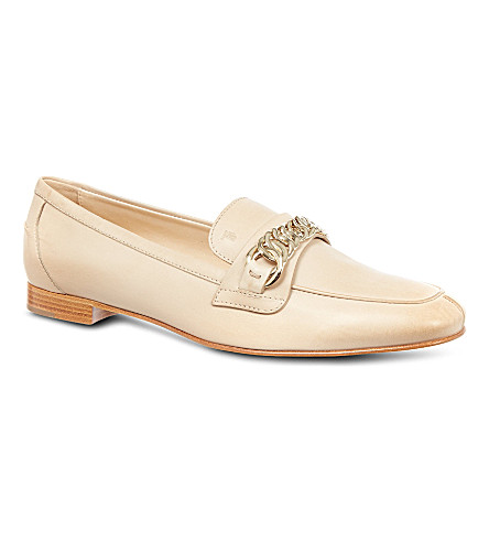 TODS Leather loafers (Beige