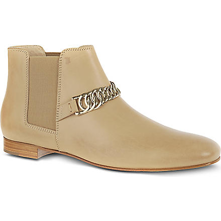 TODS Leather ankle boots (Beige