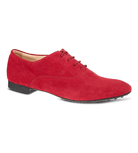 TODS Suede lace-up shoes (Fushia