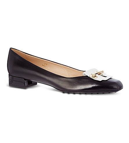 TODS Leather pumps (Blk/white