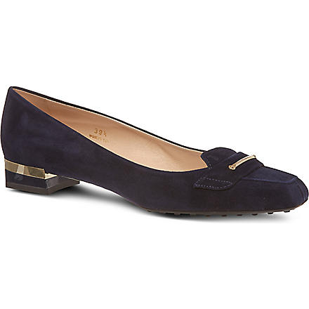 TODS Suede pumps (Navy