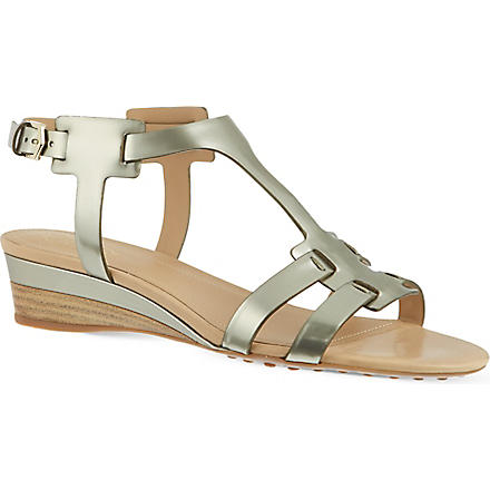 TODS Leather Sandals (Silver