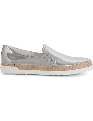 TODS Gomma rafia slip-on shoes