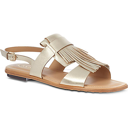 TODS Leather sandals (Gold