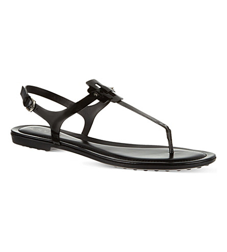 TODS Patent Leather Sandals (Black