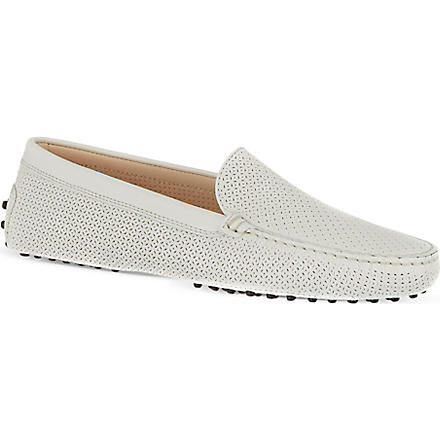 TODS Gommino Driving Shoes in Leather (White