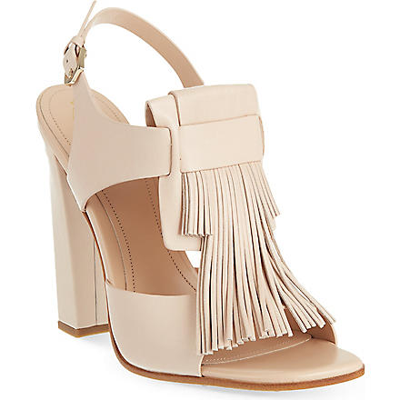 TODS Maxi Frangia sandals (Nude