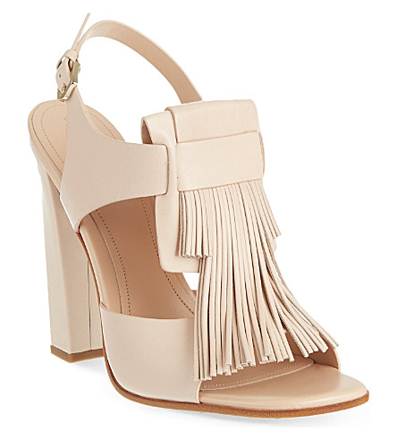 TODS Maxi Frangia sandals (Nude