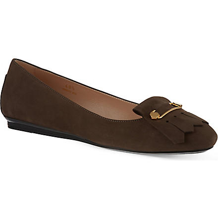TODS Gommino Frangia Spilla pumps (Taupe