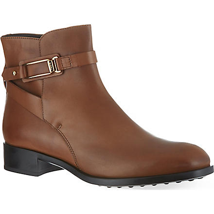 TODS Ankle boots in leather (Tan
