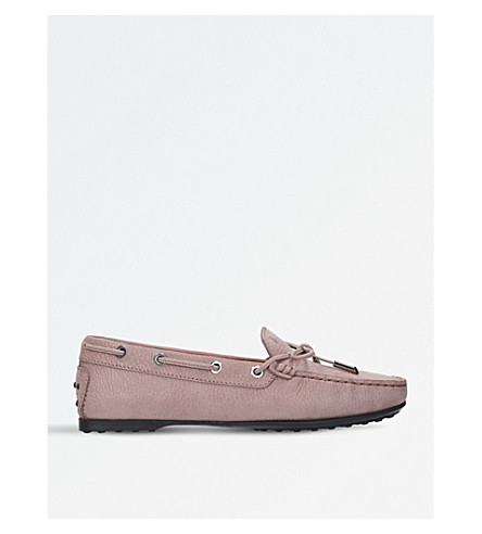 TODS Gommino leather moccasins (Taupe