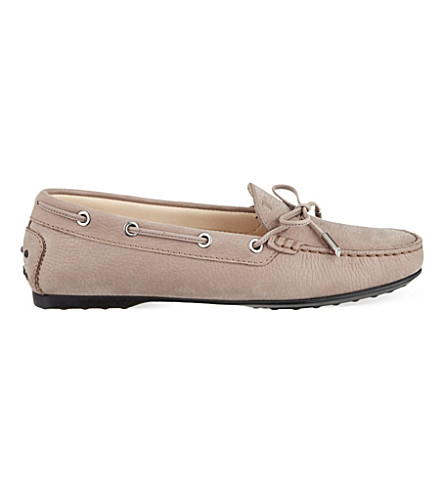 TODS Gomma nubuck loafers (Taupe