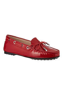 TODS Gomma patent mocassins