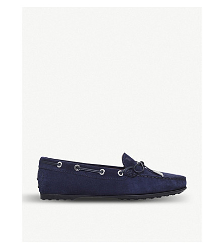 TODS Gomma lu suede driving shoes (Navy