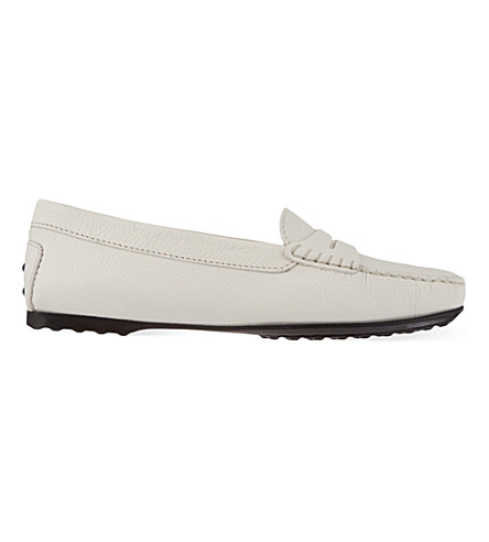TODS Gomma leather mocassins (White